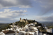 Andalucia, Andalusia, Casares, Cloudy, Color, Colour, Daytime, Europe, Exterior, Hill, Hills, House, Houses, Housing, Malaga province, Outdoor, Outdoors, Outside, Overcast, Skies, Sky, Skyline, Skylines, Spain, Town, Towns, Travel, Travels, White, World l