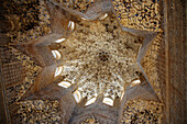 Dome of the Hall of the Abencerrajes, Alhambra. Granada. Andalusia, Spain