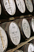 Warehouse. Glenfarclas whisky distillery. Scotland. UK.