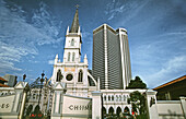 Chijmes, chapel of the Convent of the Holy Infant Jesus (CHIJ) built in 1903, houses art galleries, boutiques and restaurants. Singapore