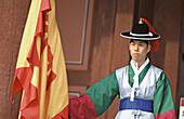 Traditional Korean guard. Seoul, South Korea
