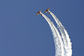 Double stunt plane act at Watsonville Air Show, California.