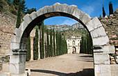 Ruins of Scala Dei Carthusian monastery, Morera de Montsant. Serra de Montsant Natural Park, Tarragona province. Catalonia, Spain