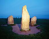 Stoneformation like a ship from the stoneage called Ale Stenar. Kåseberga. Skåne. Sweden.