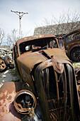 Old american car, rusty. Gotland Sweden