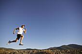 A man running near Truckee, CA