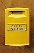 Yellow Vatican Post box, Vatican, Italy