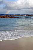 Rainbow over the sea. Peaceful Bay, Western Australia