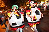 German Football Fans celebrate on the Kurfürstendamm, Berlin, Germany