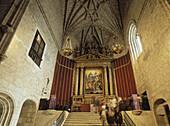Altarpiece in Yuste monastery. Cáceres province, Extremadura, Spain