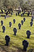 German cemetery in Yuste monastery. Cáceres province, Extremadura, Spain