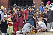 Cremation ceremony. Pashupatinath hindu temple. Katmandu. Nepal.