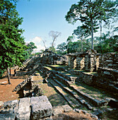 Ruins of the old city of Yaxchilan. Mexico
