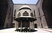 Central courtyard with fountain for ablutions. Cairo, Egypt.