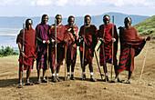 Masai at the edge of the Ngorongoro. Tanzania