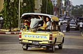 Pickup Truck, Public Transport. Yangon, Myanmar