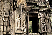 Reliefs in Angkor Wat temple complex. Cambodia
