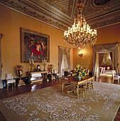 Golden Hall, National Palace of Belem. Lisbon. Portugal
