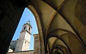 XIXth century Museum. Gothic cloister and Torre del Carmen. Valencia. Comunidad Valenciana. Spain.