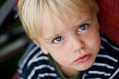 Close up of a young boy, Bavaria, Germany