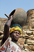 Dogon woman. Dogon country. Mali.