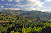Landscape at Carucedo, Las Médulas, ancient roman gold mining site. León province. Spain