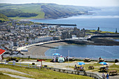 View from Constitution Hill over Aberystwyth Ceredigion Wales GB