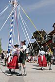Bavarian Folk dancers, Bavarian Festival, Leavenworth, Washington, USA