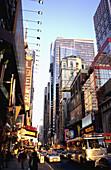 42nd Street. Late Afternoon Sun. Manhattan. New York City. United States