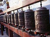 Prayer wheels. Kathmandu, Nepal