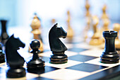Chessboard with chess pieces, Chess, Planning, Strategy, Business