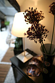 Detail of a living room with lamp and decoration, Styling, Home, Lifestyle