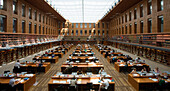 Reading room of the Saxon State Library, Dresden, Saxony, Germany