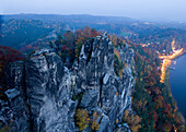 Bastei, Elbe Sandstone Mountains, Saxon Switzerland, Saxony, Germany