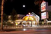 A little white chapel on Las Vegas Boulevard, The Strip. Downtown Las Vegas, Nevada, USA