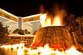 Volcano eruption in front of The Mirage Casino and Hotel in Las Vegas, Bevada, USA