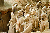 Terracotta army of the Emperor Qin, Xian, Shaanxi, China.