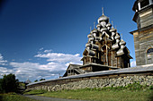 Wooden church of the Transfiguration (1714), UNESCO Heritage object. Kizhi island, Onega lake, Karelia, Russia