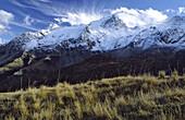 National Park des Ecrins, massif des Ecrins, snow and glaciers, alpine pastures, autumn, Haute Dauphiné, France