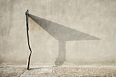 Shadow of a traffic sign, abstract