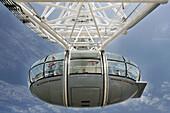 Cabin of London Eye, London. England, UK