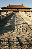 Stone carved walkway for emperor in Forbidden City, Beijing, China