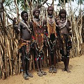 Youngsters. Hamer tribe. Ethiopia.
