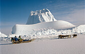 Greenland coast. North Pole.