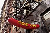 Hot Dog sign, NYC. USA