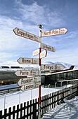 Information sign at Kangerlussuak airport, Greenland