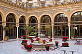 Courtyard. Hotel Alfonso XIII, Seville, Spain