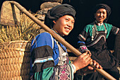 The Tu Di ethnic minority lives in the mountains of Northern Lao Cai province. Muong Khuong. Lao Cai province. Vietnam.