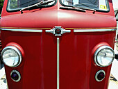 American LaFrance, Bodywork, Bodyworks, Color, Colour, Concept, Concepts, Daytime, Detail, Details, Exterior, Headlight, Headlights, Old fashioned, Old-fashioned, Outdoor, Outdoors, Outside, Red, Vehicle, Vehicles, T23-519292, agefotostock