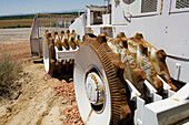 Brutal, Brutality, Color, Colour, Construction site, Construction sites, Daytime, Exterior, Industrial, Industry, Machinery, Outdoor, Outdoors, Outside, Wheel, Wheels, T27-537336, agefotostock